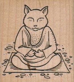 Cat Buddha 2 3/4 x 3-0