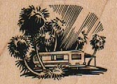 Trailer With Palm Trees 2 x 1 1/4-0