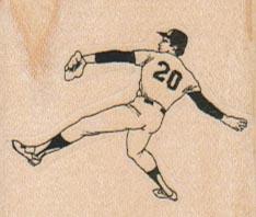Baseball Player 1 3/4 x 1 1/2-0