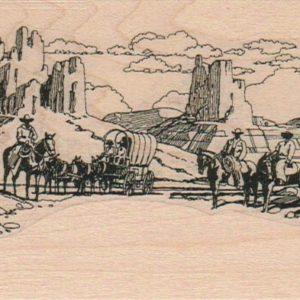 Western Scene/Cowboys 3 x 6 1/4-0