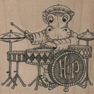 Hippo & Drums 3 1/2 x 3-0