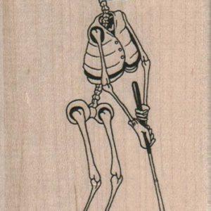 Skeleton Golfer 2 1/2 x 4-0