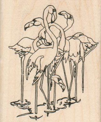 Flamingo Flock 2 3/4 x 3 1/4