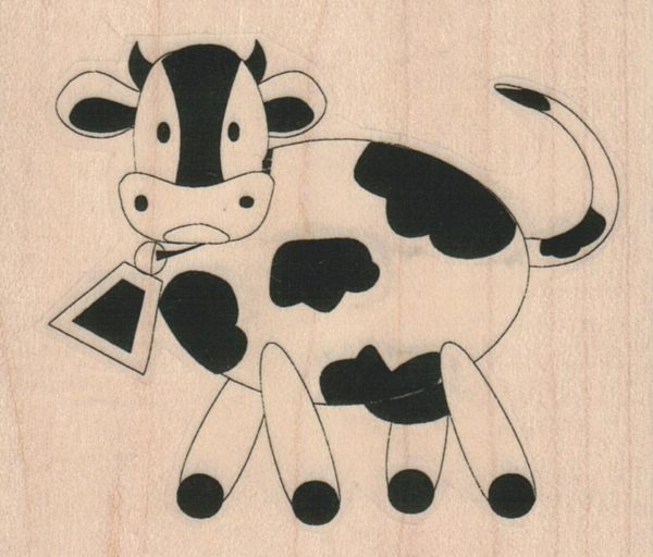 Spotted Cow With Bell 3 x 2 1/2-0