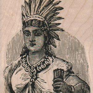 Indian Maiden 2 3/4 x 3 1/2-0