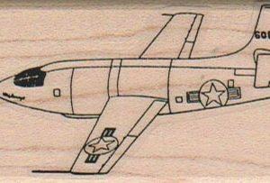 USAF Jet Plane 1 1/2 x 2 3/4-0