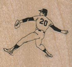 Baseball Player 20 1 3/4 x 1 1/2-0