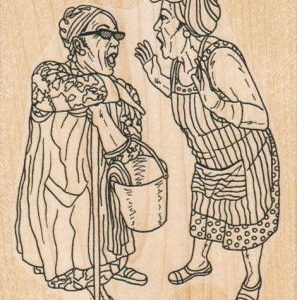 Gossiping Ladies 3 1/4 x 4 1/4-0