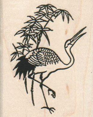 Crane & Bamboo 2 1/4 x 2 3/4