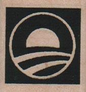 Obama Logo 1 1/4 x 1 1/4