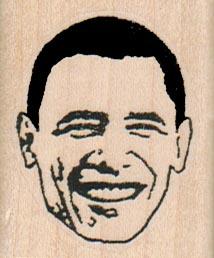 Obama Face 1 1/4 x 1 3/4