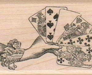 Hand Holding Cards 1 3/4 x 2 1/2-0