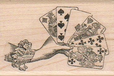 Hand Holding Cards 1 3/4 x 2 1/2