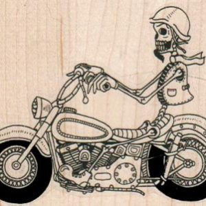 Skeleton On Motorcycle 3 1/4 x 2 1/2-0