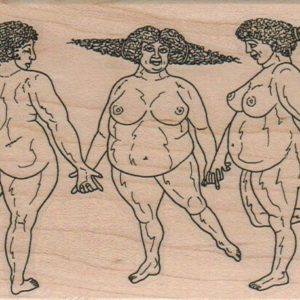 Three Plump Graces 3 1/4 x 5-0