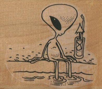 Alien Sitting PoolSide 2 1/2 x 2 3/4-0