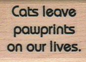 Cats Leave Pawprints 1 x 1 1/4-0