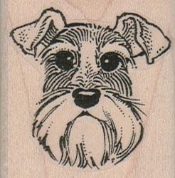 Floppy Eared Dog Face 1 3/4 x 1 3/4-0