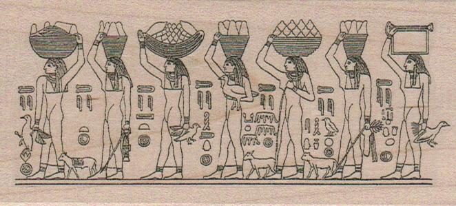 Egyptian Food Bearers 2 1/4 x 4 1/2-0
