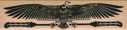 Egyptian Bird/Feathers 1 1/4 x 4 1/2-0