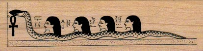 Egyptian Snake Gods 1 1/4 x 4 1/4-0