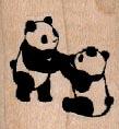 Pandas Playing 1 1/4 x 1 1/4-0