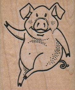 Pig Waving 1 3/4 x 2-0