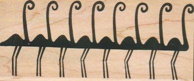 Egyptian Flamingos 2 3/4 x 6-0