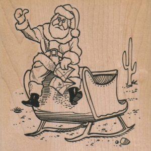 Santa Lost In Desert 4 1/4 x 4 1/4-0