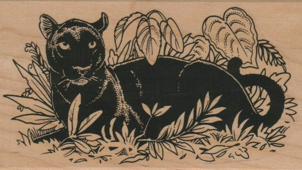 Panther in Plants/Large 3 x 5-0
