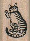 Striped Cat 3/4 x 1-0