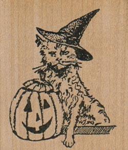 Halloween Kitty 1 3/4 x 2-0