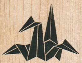 Origami Crane 2 x 1 1/2-0