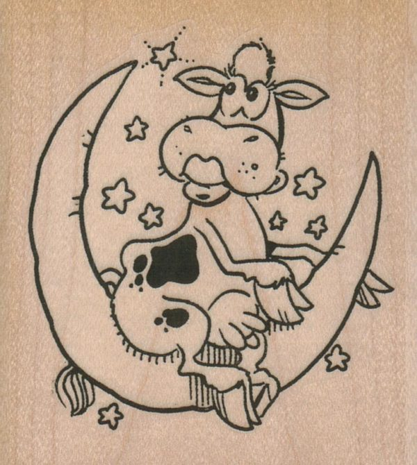 Cow On Moon 2 3/4 x 3-0