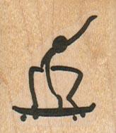SkateBoarding Stick Figure 1 1/4 x 1 1/4-0