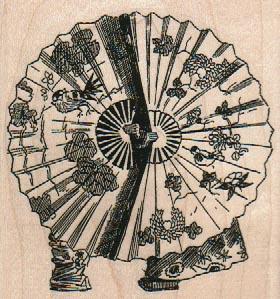 Japanese Umbrella Couple 3 x 3-0