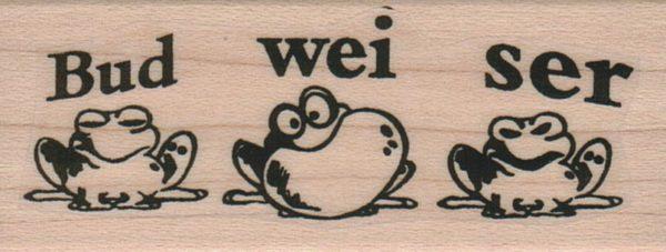 Bud-Wei-Ser Frogs 1 1/4 x 2 3/4-0