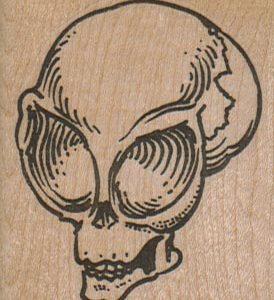 Alien Skull 2 x 2 1/4-0