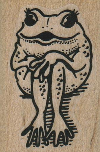 Demure Frog 1 1/4 x 1 3/4-0