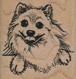 Happy Pom Dog Face 1 3/4 x 1 3/4-0