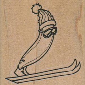 Skiing Banana 2 1/4 x 2 1/4-0