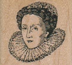Queen Elizabeth I/Small 1 3/4 x 1 1/2-0