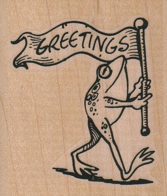 Greetings Frog 2 x 2 1/4-0