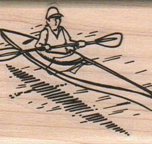 Man Kayaking 2 x 2 1/2-0