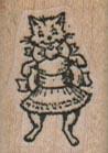 Kitty In Dress 3/4 x 1-0