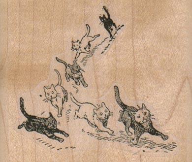 Running Kitties 2 3/4 x 2 1/4-0