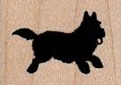 Dog Silhouette 1 1/2 x 1-0
