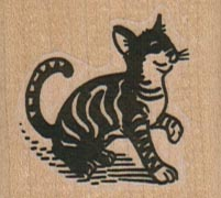 Striped Cat 1 1/2 x 1 1/4-0