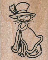 Cat In Hat And Cloak 1 1/2 x 1 3/4-0