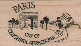 Paris City Of Delightful 1 1/2 x 2 1/4-0
